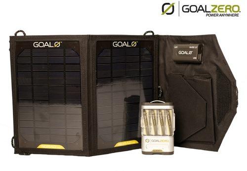 Kit Pannello Solare Zero : Caricabatterie solare goal zero guide adventure kit