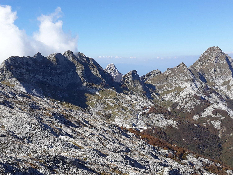 Monte Cavallo e Pisanino dalla Tambura