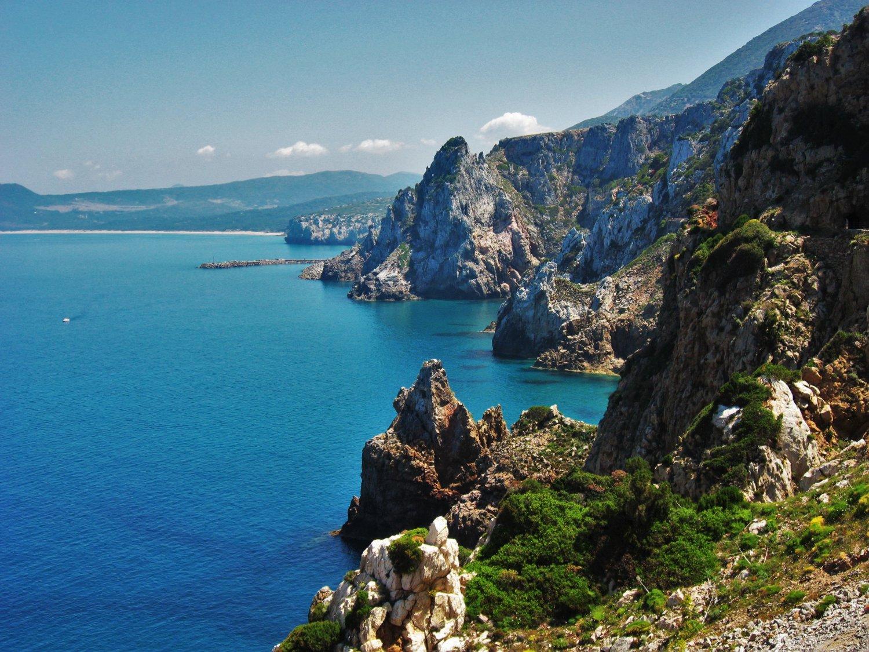 Sardegna Miniere nel Blu la scogliera di Buggerru.jpg