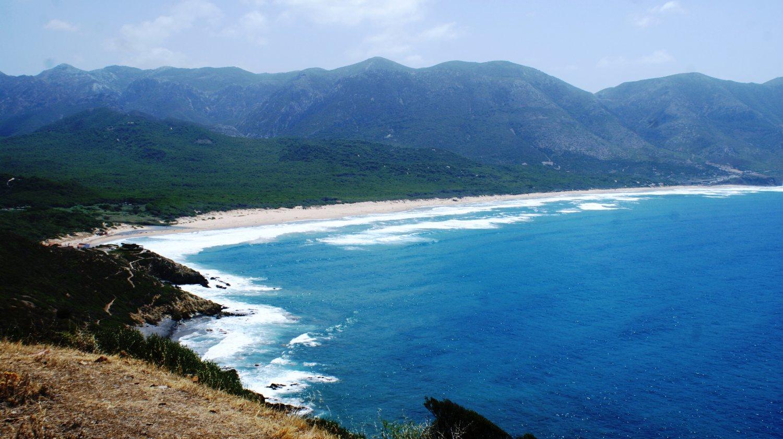 Sardegna Miniere nel Blu Portixeddu panoramica spiaggia.jpg