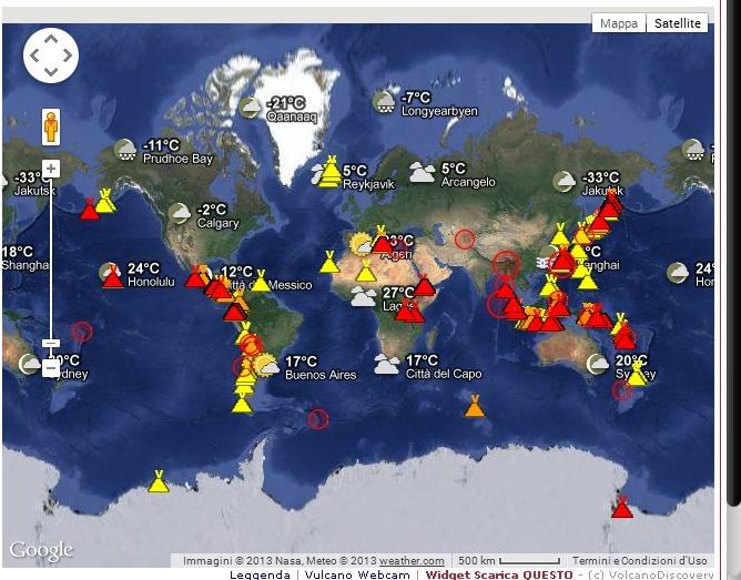 Cartina Vulcani Nel Mondo.Mappa Interattiva Di Vulcani Attivi E Terremoti In Tutto Il Mondo Sempre Aggiornata Avventurosamente